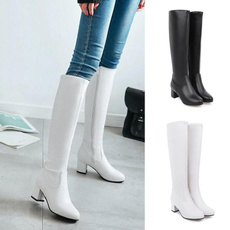 Knee High Boots, Moda, Leather Boots, Invierno