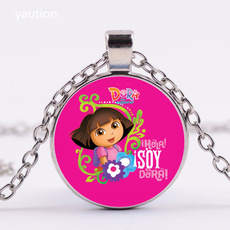 25mmglasscabochon, Jewelry, timegemstonenecklace, Necklaces Pendants