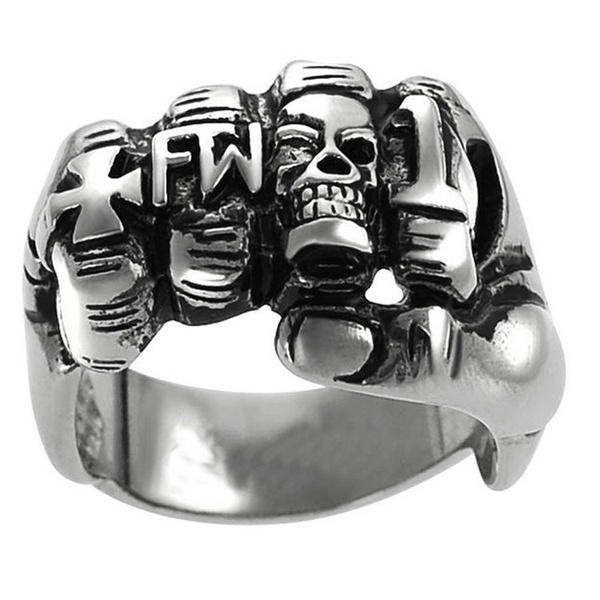 Goth, hip hop jewelry, Stainless Steel, Cross