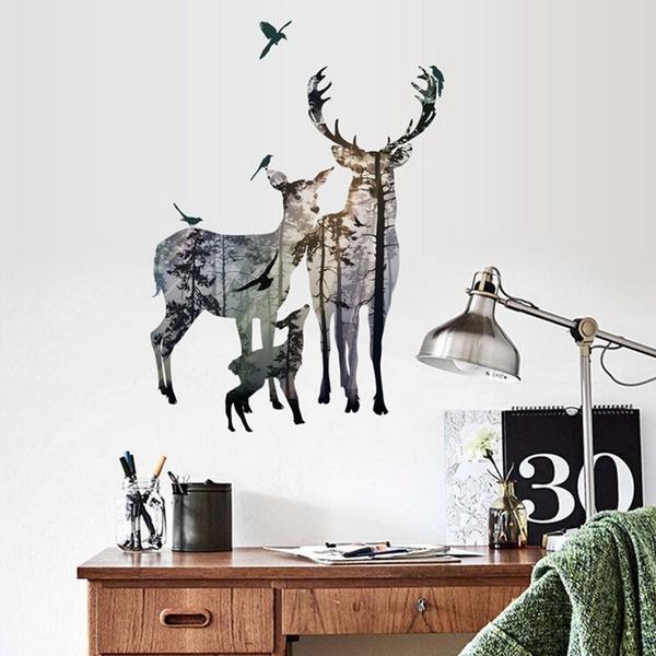 deerforest, Decor, Wall Art, Home Decor