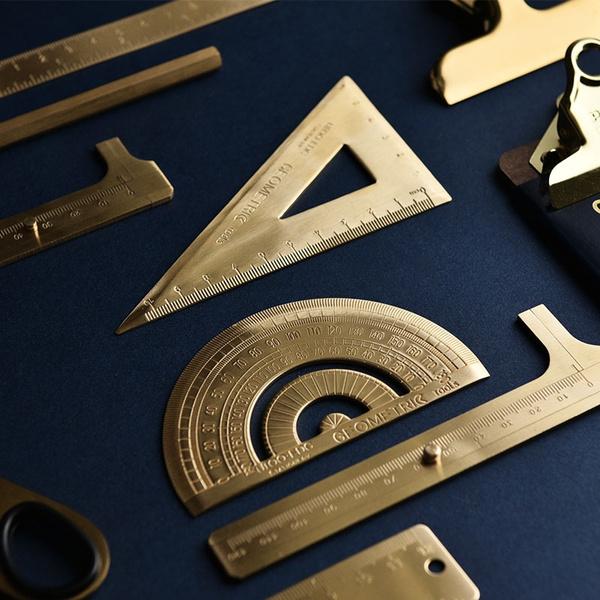 learningtool, draftingtool, brassruler, Office & School Supplies