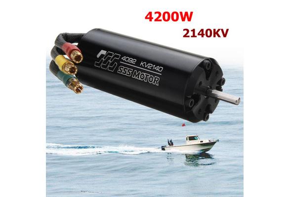 SSS 4092 1400KV//1650KV//2140KV Brushless Motor Water Cooling Jacket For RC Boat
