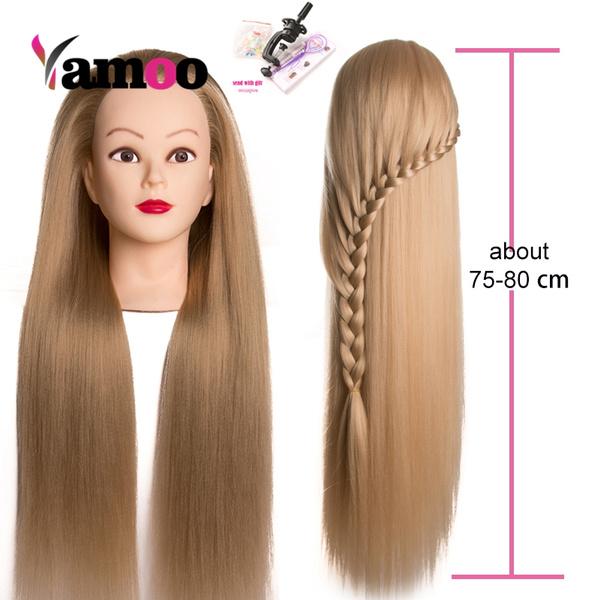 Head, femalemannequin, hightemperaturefiberhair, mannequinfemalehead