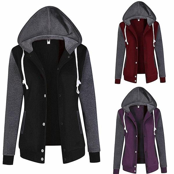 Jacket, Fleece, Casual Hoodie, sweatshirtjacket