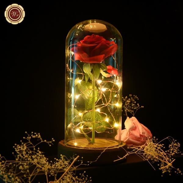 Plastic, eternalroseflower, Flowers, led