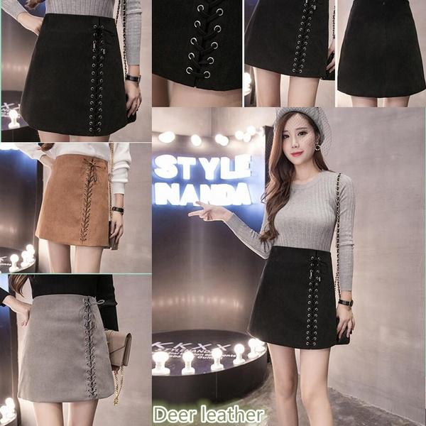 Mini, pencil skirt, velvet, studentskirt