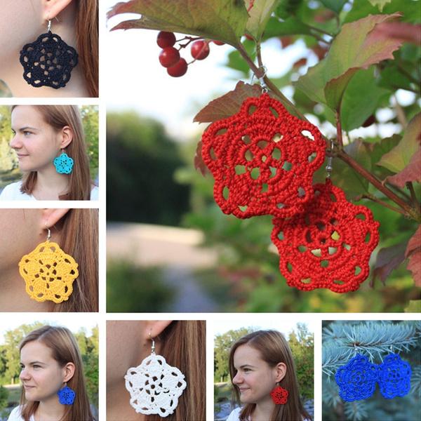 Summer, Flowers, Jewelry, women earrings