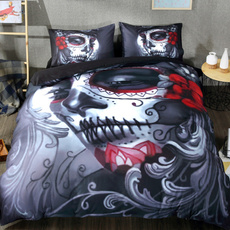 beddingdecor, Goth, skullbeddingset, King