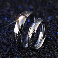Couple Rings, Steel, Women Ring, 925 silver rings
