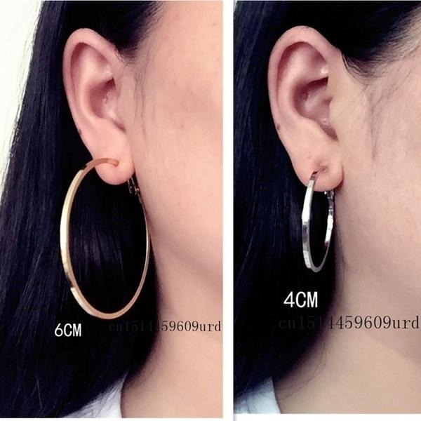 Jewelry, withoutpiercedearring, rose gold earrings, squareearring