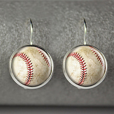 baseballmomsjewelry, Dangle Earring, Jewelry, baseballjewelry