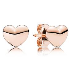 Heart, Stud, gold, Stud Earring