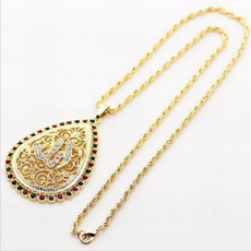 allahpendantnecklace, water, Chain Necklace, Fashion necklaces