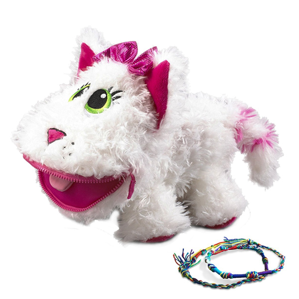 Best Stuffed Animals For Boy, Baby Stuffies Whisper The Cat Stuffed Animal Plush Toys Small Stuffed Animals Kids Toys With Storage Pockets And 2 Friendship Bracelets Wish