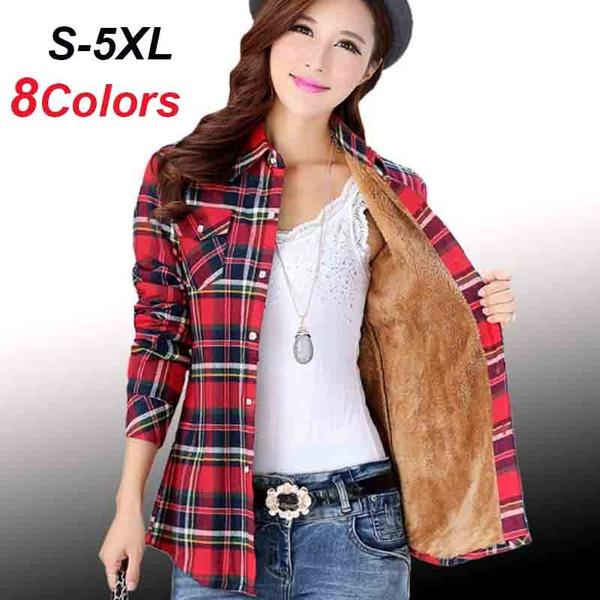 plaid shirt, fur coat, Fashion, velvet