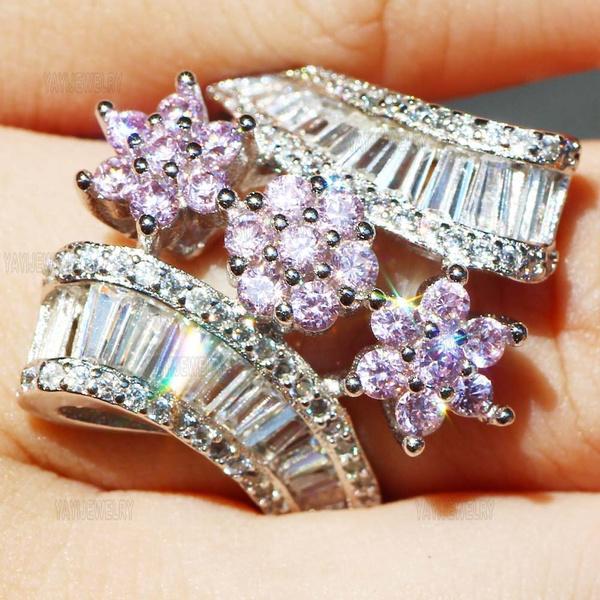 DIAMOND, 925 sterling silver, 925 silver rings, birthstonering
