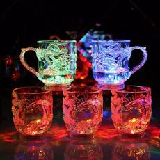 rainbow, led, transparentgla, Cup