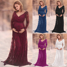 Maternity Dresses, gowns, Lace Dress, Long Sleeve Dresses