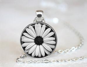 Necklace, Flowers, black, Jewelry