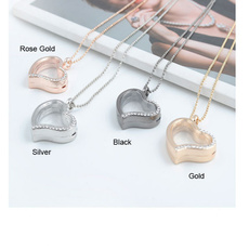Heart, Jewelry, Crystal, heart necklace