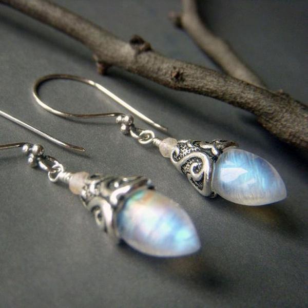 Sterling, rainbow, DIAMOND, Dangle Earring