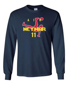 neymar, Cotton T Shirt, Sleeve, Long Sleeve