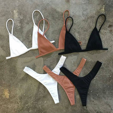 bathing suit, Fashion, bikini set, Halter