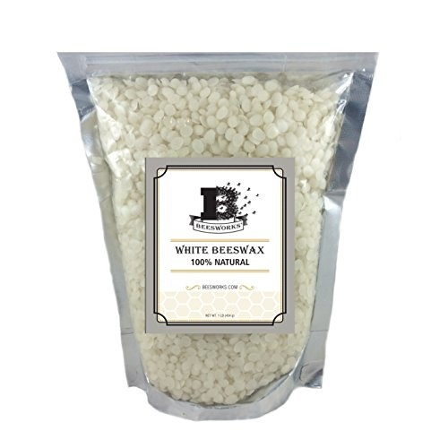 1lb, white, pellets100, beeswax