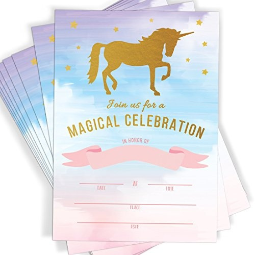 And, rainbow, unicorn, Envelopes