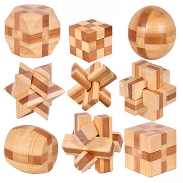 Toy, kongminglock, Wooden, developmentalbabytoy