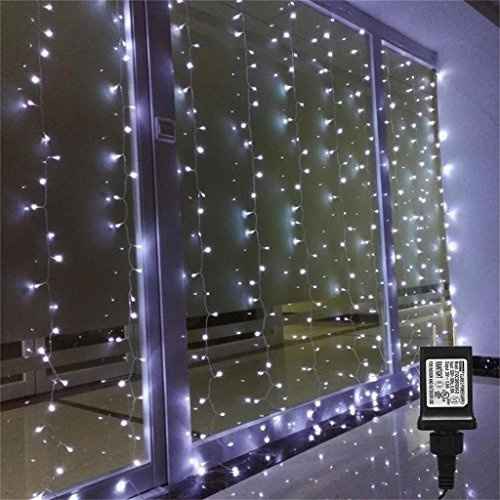 Amars Bedroom Wedding String Led Curtain Lights Indoor Outdoor Waterfall Window Lights Led Lights For Party Home Living Room White Ul Listed 9 8 Feet Wish