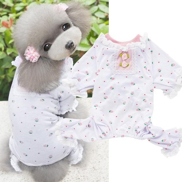 dogcottontshirt, Summer, Pet Dog Clothes, Lace