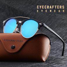 retro sunglasses, doublebridgesunglasse, Fashion, Round Sunglasses