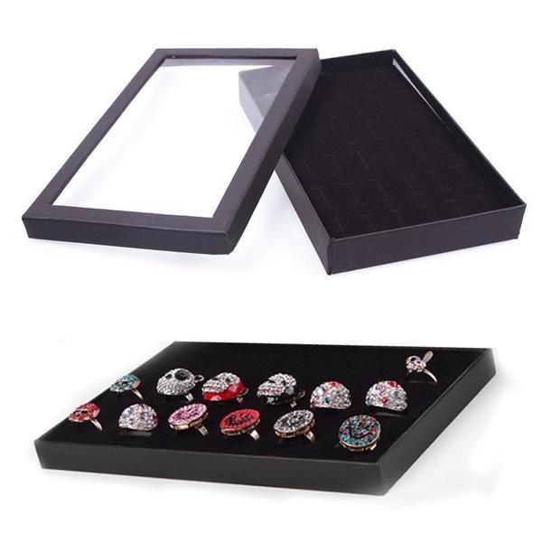 case, jewelryringstorageboxe, Jewelry, showcase