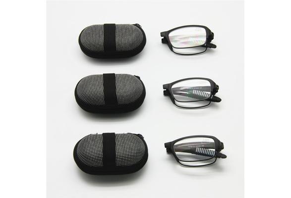 Acutty Fashionable Foldable Pocket Glasses Mini Folding Read Presbyopia Hyperopia Glasses