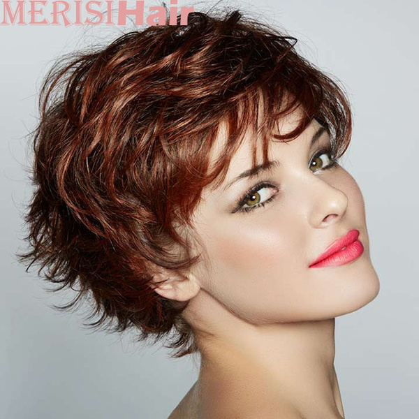 Women S Fashion Short Wigs Red Pixie Cut Soft Hair Wig Color Red Wish