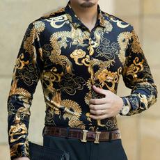 golden, Fashion, velvet, Shirt