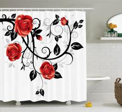 Shower, Goth, fashionshowercurtain, showercurtainsampenclosurering