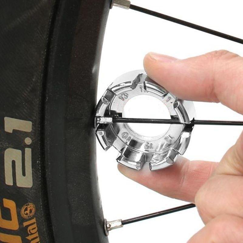 Bicycle Bike 8 Way Spoke Nipple Key Wheel Rim Wrench Spanner Repair DECO A1G6