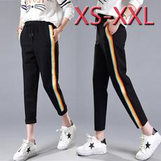 Women Pants, elastic waist, Waist, Casual pants