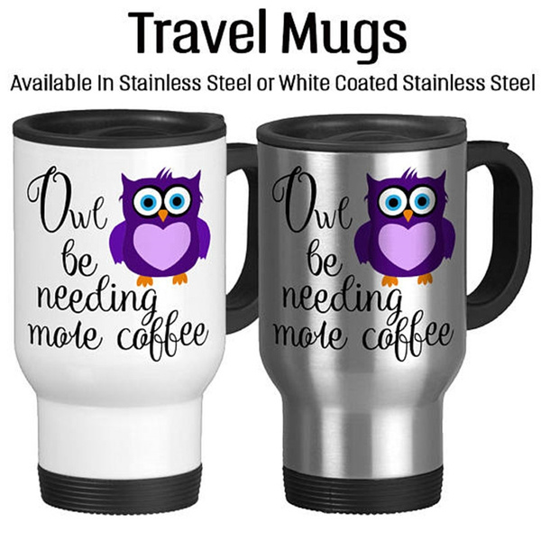 Owl, Coffee, travelmug, Heart