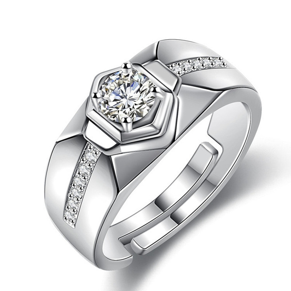 A, moissanite, Fashion, wedding ring