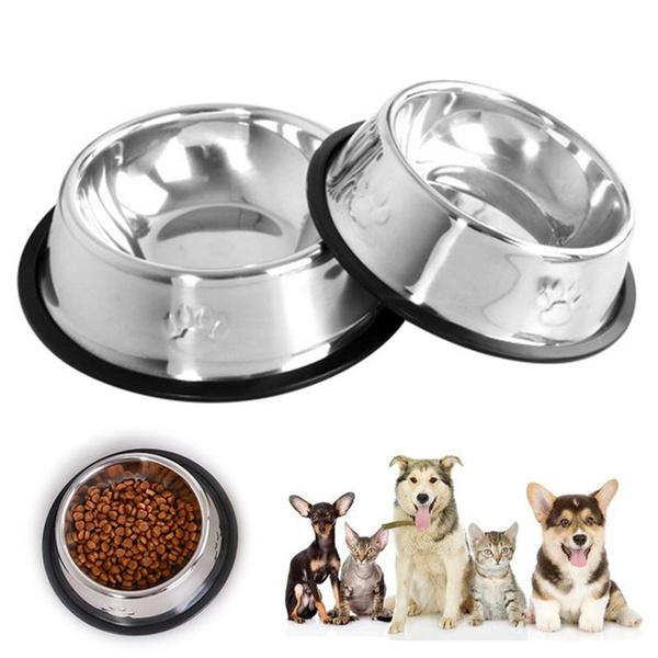 Steel, water, Feeding, Dogs