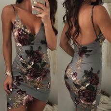 Fashion, Floral print, Vintage Style, Dress