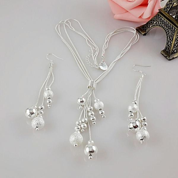 Sterling, Dangle Earring, Necklace, women necklace