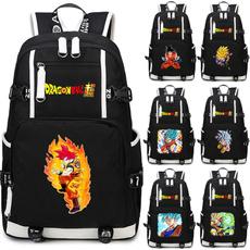 Laptop Backpack, black backpack, Computer Bag, Dragon ball z backpack