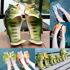Funny, Sandals, fishheadslipper, coupleslipper