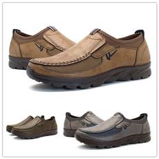 casual shoes, Flats, leather shoes, menflatshoe