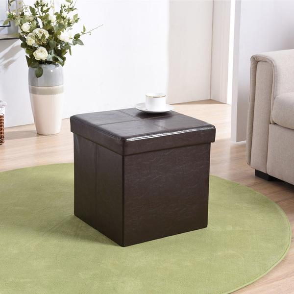 leatherstool, Storage Box, Decor, footstool