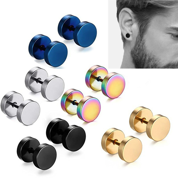Steel, Plug, Jewelry, Stud Earring